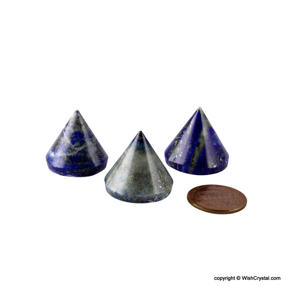 Lapis Lazuli round Cone Pyramid 18 to 20 mm