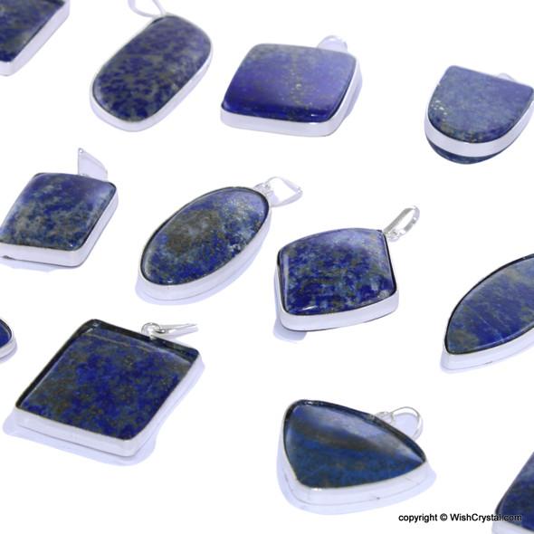 Bag of 20 Lapis Lazuli Pendants - free-form rounded corner - Mixed Lot