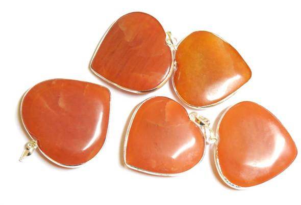 Red Quartz Heart Pendant