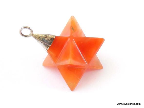 Red Quartz Merkaba Pendulum / Pendant