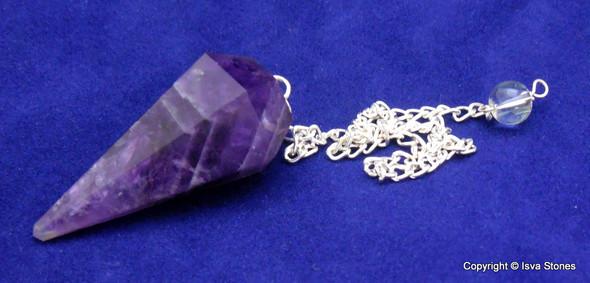 Amethyst Diamond Shape Pendulum