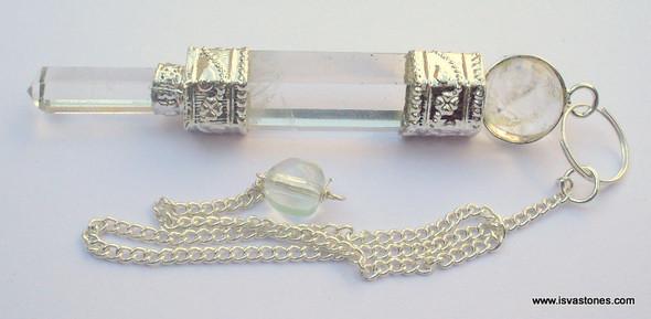 Crystal Quartz 3-piece Pendulum