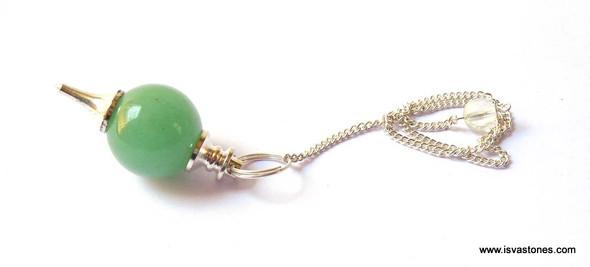 Green Quartz Ball Pendulum
