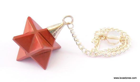 Red Jasper Merkaba Pendulum