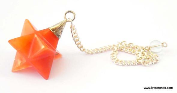 Red Quartz Merkaba Pendulum