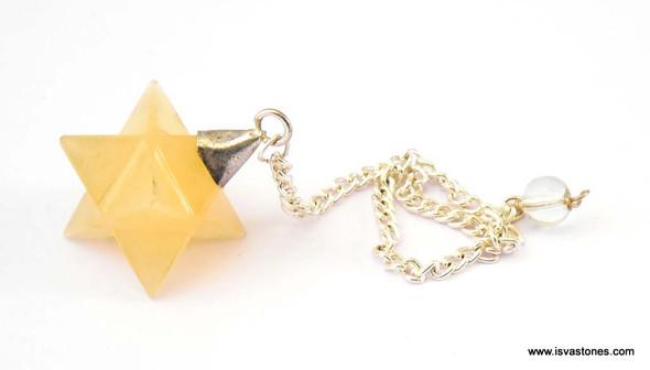 Yellow Aventurine Merkaba Pendulum