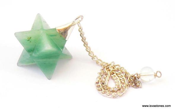 Green Aventurine Merkaba Pendulum