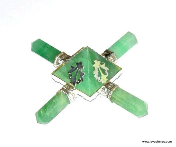 Green Aventurine Aura Energy Generator - Tibetan Craft