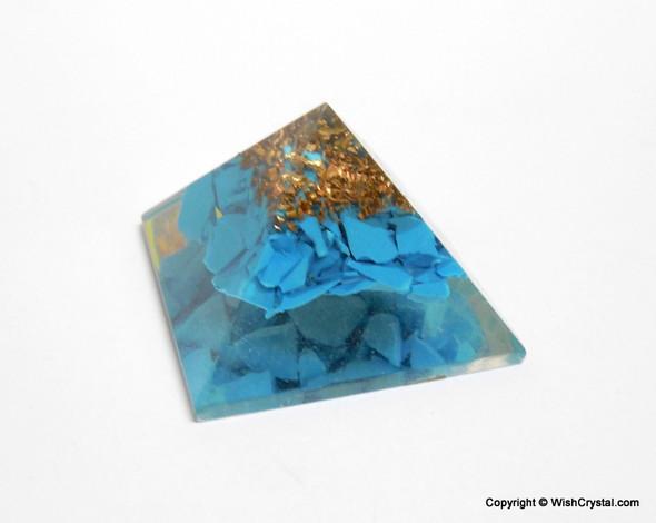 Halo Turquoise Orgone Pyramid - 25 mm