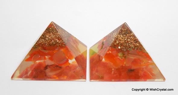 Red Carnelian Orgone Pyramid - 25 mm