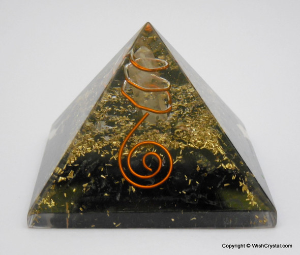 Black Tourmaline Orgone Pyramid - 40 - 45 mm