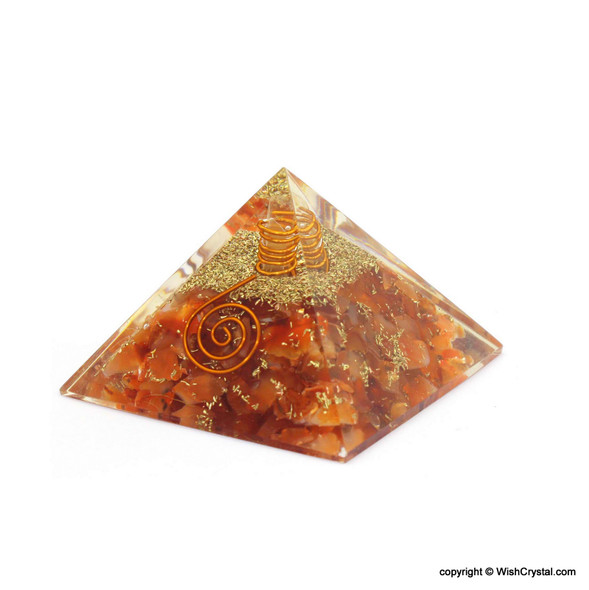 Red Carnelian Orgone Pyramid - 40 - 45 mm