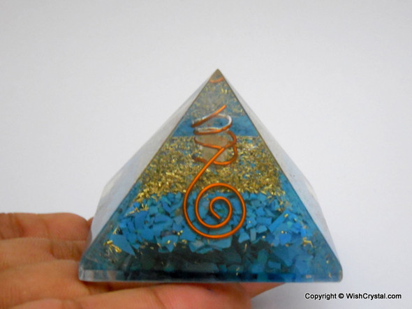 Halo Turquoise Orgone Pyramid - 40 - 45 mm