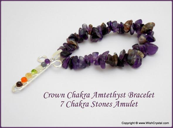 Amethyst Chakra Bracelet Charm Amulet Chakra Gird