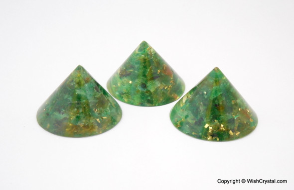 Green Aventurine Orgonite Conical Pyramid