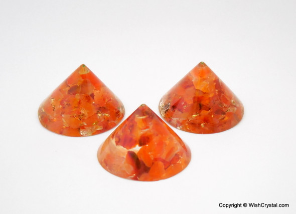 Red Carnelian Orgonite Conical Pyramid