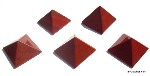 Red Jasper Pyramid - 18 to 20 mm