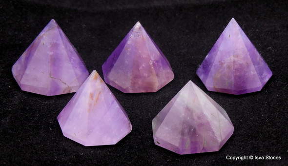 Amethyst Octagon Pyramid - 18 to 22 mm