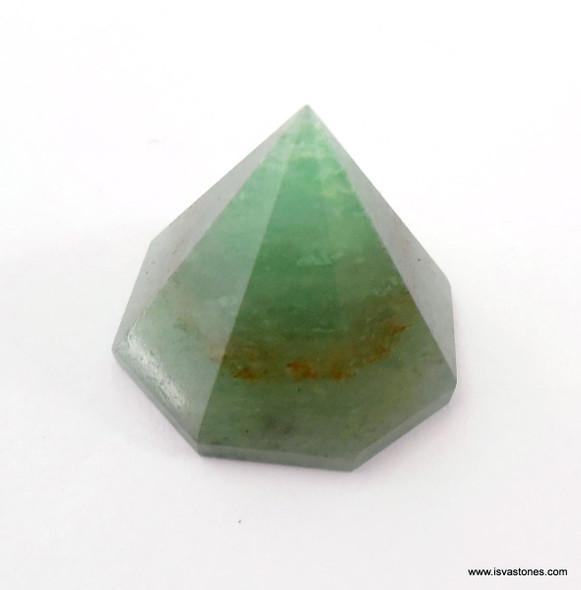 Green Aventurine Octagon Pyramid - 18 to 22 mm
