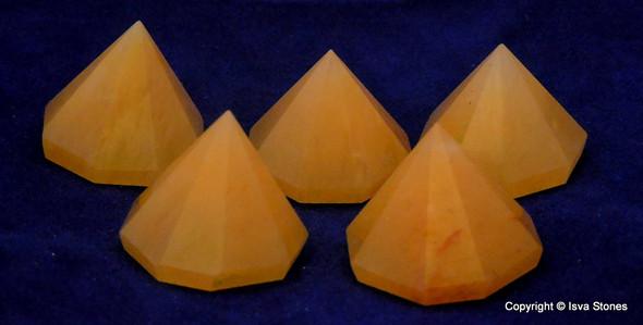 Yellow Aventurine Octagon Pyramid - 18 to 22 mm