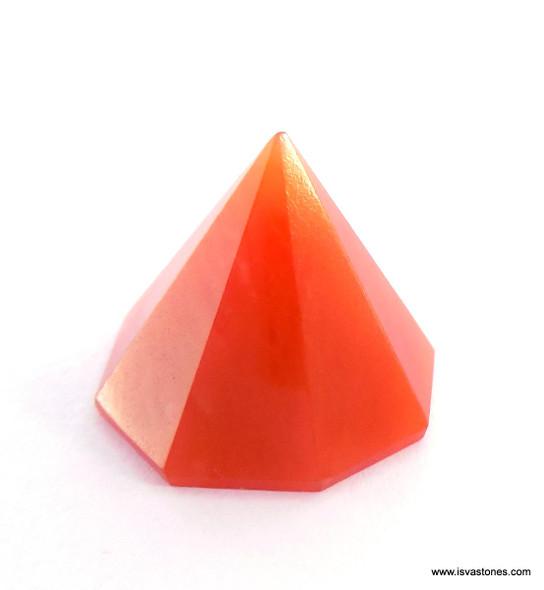 Orange Aventurine Octagon Pyramid - 18 to 22 mm