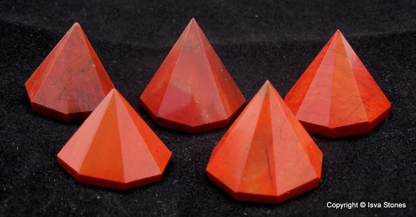 Red Jasper Octagon Pyramid - 18 to 22 mm