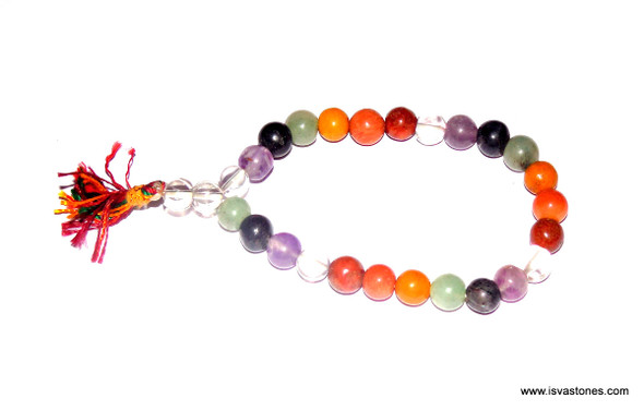 Chakra Beads Bracelet with 7 Chakra Stones