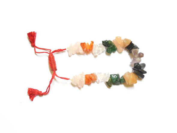 Chakra Chips Bracelet with 7 Chakra Stones