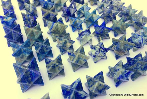 Wholesale Lot of 20 Lapis Lazuli Merkaba Stars Points