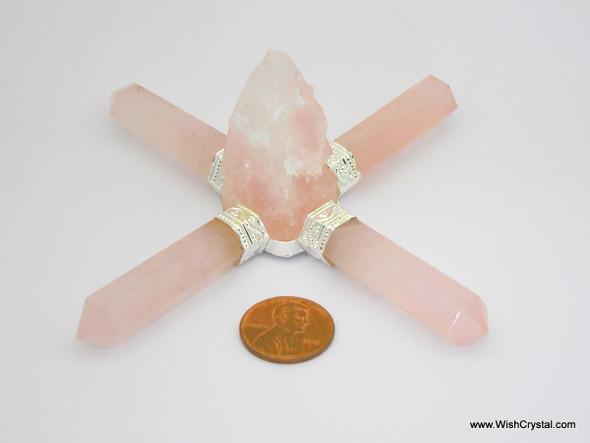 Rose Quartz Rough Stone Aura Energy Generator
