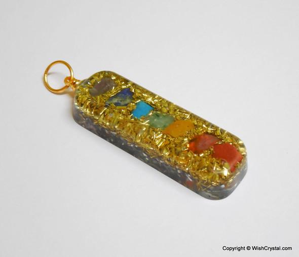 Orgonite Chakra Stone Pendant with Copper