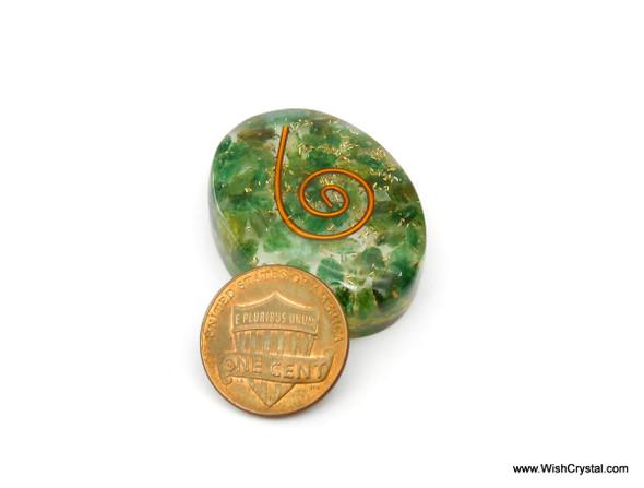 Green Aventurine Orgonite Oval Worry Stone