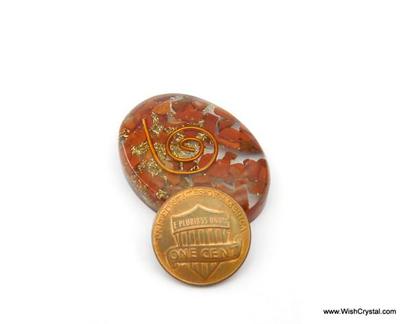Red Jasper Orgonite Oval Worry Stone