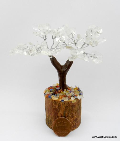 Crystal Quartz Gem Tree Petite Natural Crystal Bonsai Tree - 4-inch