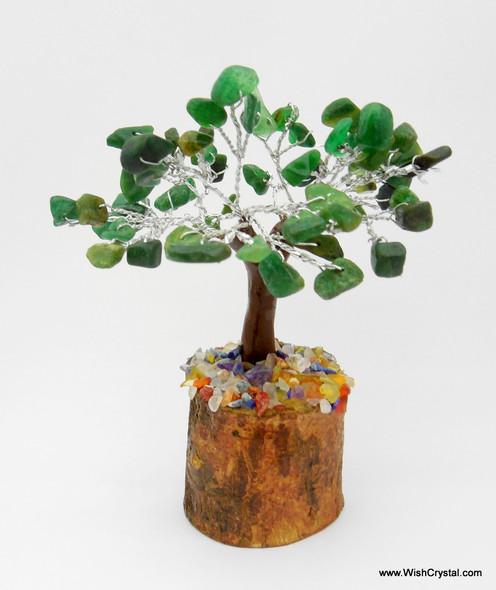 Green Aventurine Gem Tree Petite Natural Crystal Bonsai Tree - 4-inch