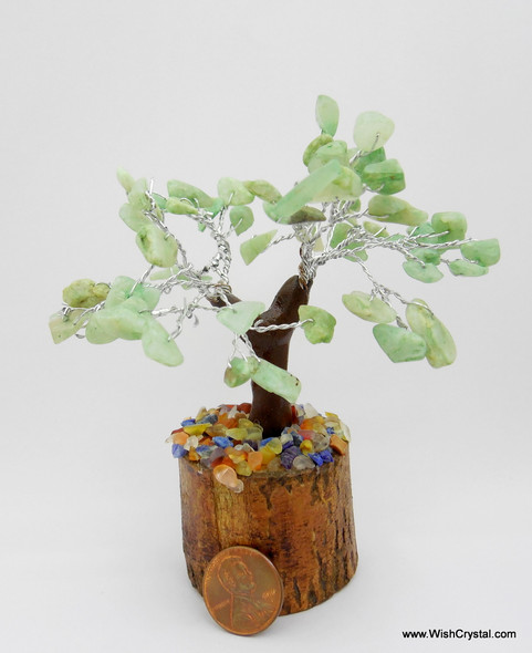 Jade Quartz Gem Tree Petite Natural Crystal Bonsai Tree - 4-inch