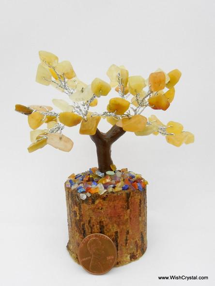 Yellow Aventurine Gem Tree Petite Natural Crystal Bonsai Tree - 4-inch