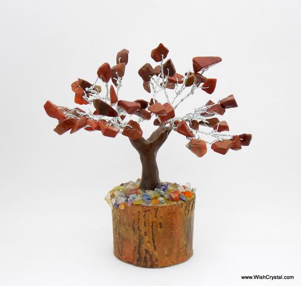 Red Jasper Gem Tree Petite Natural Crystal Bonsai Tree - 4-inch