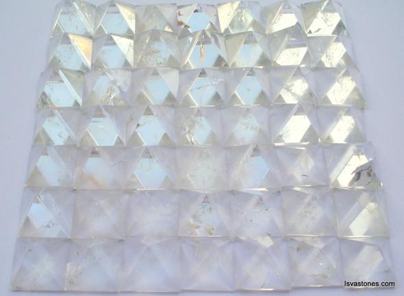 Bag of 50 Crystal Quartz Pyramid Natural Crystal Pyramids - 18 to 20 mm