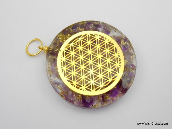 Amethyst Orgonite Infinity Metal Pendant