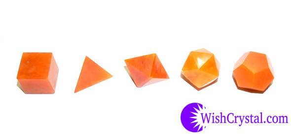 Red Quartz Sacred Geometry Set