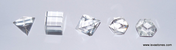 Natural Crystal Quartz Sacred Geometry Set
