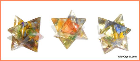 Orgone Merkaba Star Chakra Stones Orgonite Merkaba Star