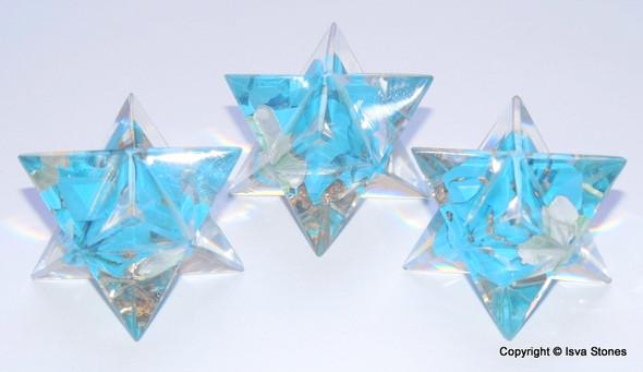 Orgone Merkaba Star Halo Turquoise Orgonite Merkaba Star