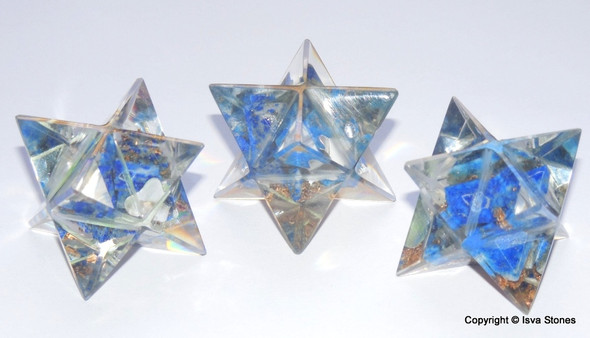 Orgone Merkaba Star Lapis Lazuli Orgonite Merkaba Star