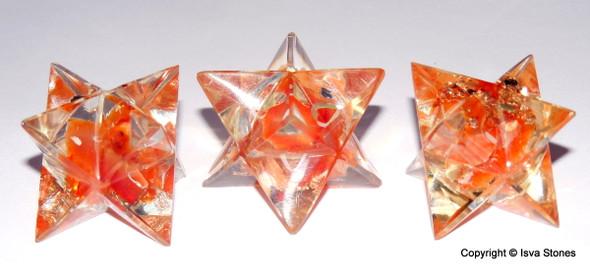Orgone Merkaba Star Red Carnelian Orgonite Merkaba Star