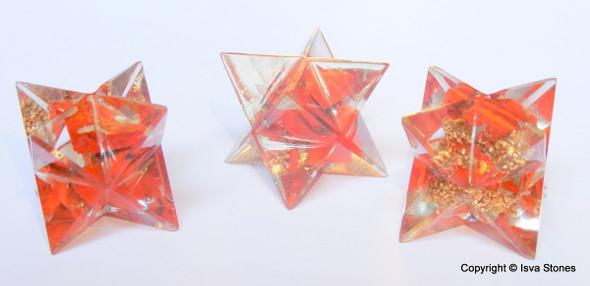 Orgone Merkaba Star Red Jasper Orgonite Merkaba Star