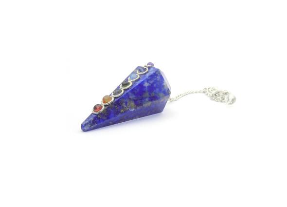 Chakra Stone Crystal Pendulum - Lapis Lazuli