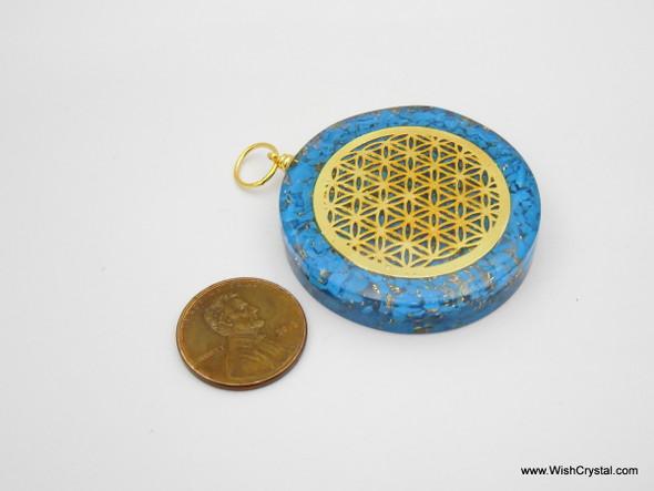 Wholesale Bag of 60 Orgonite pendants with Infinity metal
