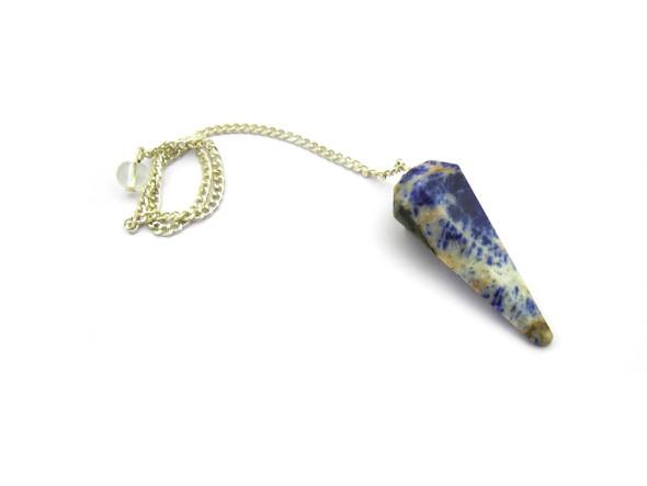 Sodalite Pendulum 6-Faceted Diamond Shaped